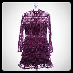 Self Portrait Burgundy dress